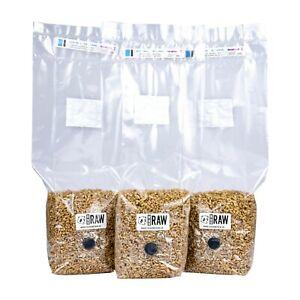 750g - 4KG Rye Grain (Hydrated & Sterilised) - Mushroom Cultivation & Growing