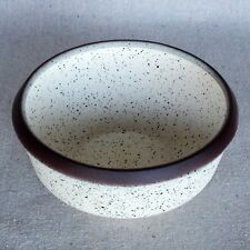Vintage Early Edith Heath Sausalito Studio Pottery White Speckled Ceramic Bowl