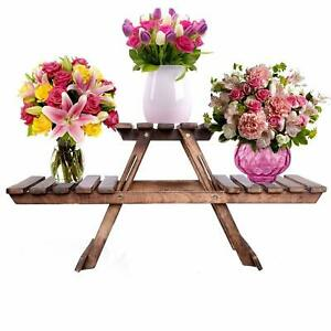 """Wooden Handcrafted Square Folding Stool for Living Room Side Table 12"""" Inch"""