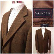 Gant The Blazer Mens Herringbone Plaid Wool Blazer Jacket Sports Coat SZ M42