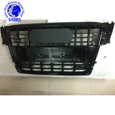 Black Frame Front Bumper Grill Radiator Grille For Audi A4 B8 S4 Style 2009-12