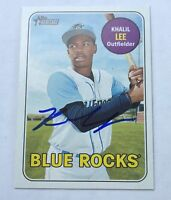 KHALIL LEE SIGNED 2018 TOPPS HERITAGE MINORS CARD #122 ROYALS AUTO!