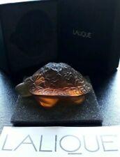 Lalique Amber Turtle Figure 1214300 Motif Tortue Sidonie Ambre BNIB Gift Idea