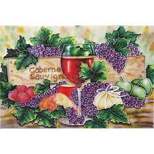 Benaya Cabernet Sauvignon Tile 8 x 12 Decorative Kitchen Artwork Wall Ornament