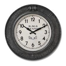 Large Round Vintage Nautical RMS Titanic Black Grey Wall Clock (h18085) 65cm