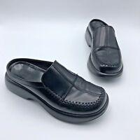 Dansko Women Black Leather Mule Slip On Clog Shoe Size 6.5 EUR 37 Pre Owned