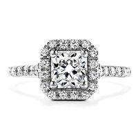 1.50 Ct Brilliant Cut Diamond Engagement Ring 14kt White Gold VVS1/D Size M O P