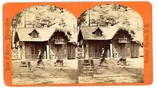 Saratoga Springs NY -DEER LODGE IN CONGRESS PARK-Baker & Record Stereoview