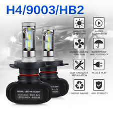 H4 9003 HB2 Car LED Headlight Bulbs Conversion Kit High Low Beam 50W 8000LM Lamp