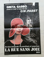 Cinema Plakat La Straße Ohne Freude GW Pabst Greta Garbo Ressortie Annees
