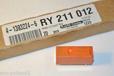 RY211012 Electromechanical Relay 12VDC SCHRACK 4-1393224-6  [QTY=1pcs]