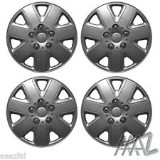 "SET OF 4 x 13INCH ALLOY LOOK CAR WHEEL TRIMS/COVERS/SILVER 13"" HUB CAPS"