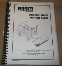 Rosco Lee Boy Challenger Iii Broom Sweeper Operators Parts Service Repair Manual