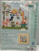 "Dimensions Counted Cross Stitch Happi Backyard Birth Record 12""x12"" kit NEW"