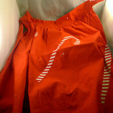Vintage Mid Century Half Apron Red Candy Cane ALL COTTON Kitchen As Is