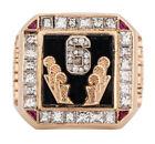 1998 Michael Jordan Chicago Bulls Six Time NBA Championship Gold Ring & Diamonds