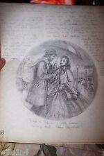 Illustrator Art Danbury Mint Plate Little Women Jo & Professor Elaine Gignilliat