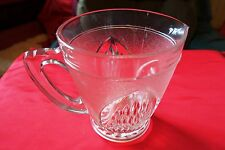 "Vintage large  glass jug /pitcher 1920's Art Deco Frosted & Cut patterns 6"" x 5"""