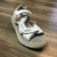Women's MBT Kisumu 2 Wedge Sandals Shoes Size 6 White Leather Toning Casual K1