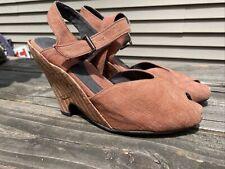 John Fluevog Vintage Pin-up Maryjane Sandals/Heels, Size 10 Rosy-Tan Color