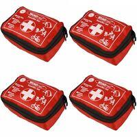4x Reise Verbandtasche je 32tlg Urlaub Erste Hilfe Set Mini Notfallset Tasche