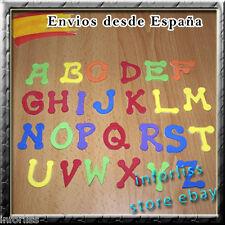 Abecedario infantil Adhesivo en goma eva 26 letras