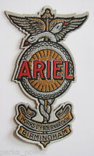 Ariel Motorcycle Woven Patch, iron on, Bikers, Vintage, Classic, UK,