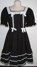 ELEGANT GOTHIC LOLITA BLACK WHITE LACE ALICE DRESS M L