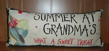 SUMMER AT GRANDMA'S WHAT A SWEET TREAT Americana Pillow Summer Country Decor