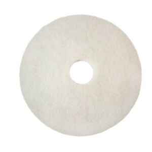 "3M White Polishing Floor Pads 15"", 5 Pk"