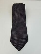 Men's Ties Thomas Pink Silk Necktie Black With Pink Sheer Made in France