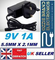 9v Power Supply UK 9v Adaptor 9v Charger 9 Volt Power Supply UK 9V 1A AC/DC PLUG