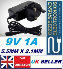 UK DC 9V 1A Switching Power Supply Adapter 100-240V AC Plug Mains Lead Cord