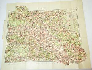 Landkarte Schlesien Georg Brieger Schweidnitz 1930er  (H4