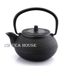 New 300ml Black Hobnail Tetsubin Kettle * Cast Iron Tea pot with Infuser Filter