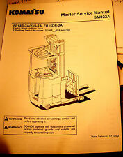 KOMATSU Master Service Manual Book #SM022A Electric Stand-Up Rider Truck    #928
