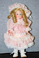 "Shader's China Doll With Dirty Blonde Hair 14"" Bisque Porcelain Doll (#S4742)"
