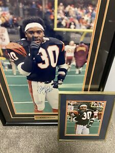 Ickey Woods Autographed Signed Custom Framed picture 33X24 + smaller one