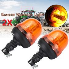 2 pezzi LED Faro Allarme Lampeggiante Rotante Ambra Flessibile Din Trattore