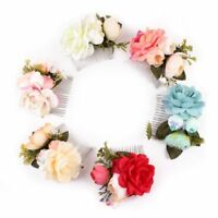 Bridal Flower Hair Clip Hair Jewelry Floral Hairpin Wedding Accessories