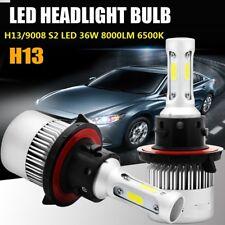 2PCS H13 9008 LED Headlight Conversion 36W 8000LM HI-LO Beam Bulbs 6500K GW