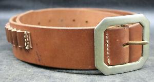 Vintage HUNTER 122 Leather .22 Ammo Belt Mens Medium Bandolier LEFT HAND (P5)