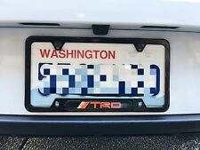 Black License Plate Frame TRD Toyota Lexus Scion 86 FRS IS ES Supra Celica Echo