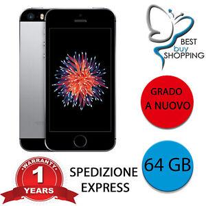 IPHONE SE RIGENERATO A NUOVO 64 GB nero space ORIGINALE APPLE + GARANZIA 1 ANNO