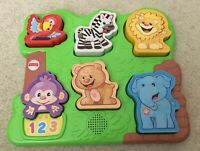 Fisher Price Zoo Animal Activity Puzzle Laugh Learn Developmental Toy Baby Songs
