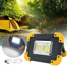 20w COB LED Rechargeable Cordless Thin Portable Work Flood Light Camping