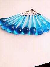 10PCS 55MM Sky Blue Glass Crystal Teadrop Chandelier Lamp Parts Wedding Hangging