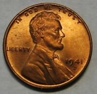 1941-D Lincoln Wheat Cent in the CH BU Range From an Original Bank Wrapped Roll