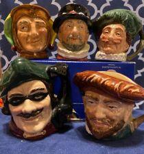 Royal Doulton Set of 5: Dick Turpin, The Cavalier, Drake, Touchstone & Beefeater