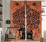 Indian Mandala Elephant Tree Window Door Curtain Cotton Decor Balcony Wall Drape